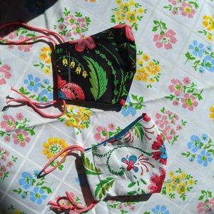 2 set of childrens cotton facemask w floral print